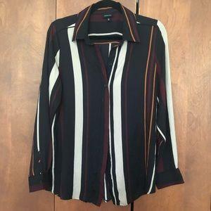 Who What Wear Stripe Blouse Size medium